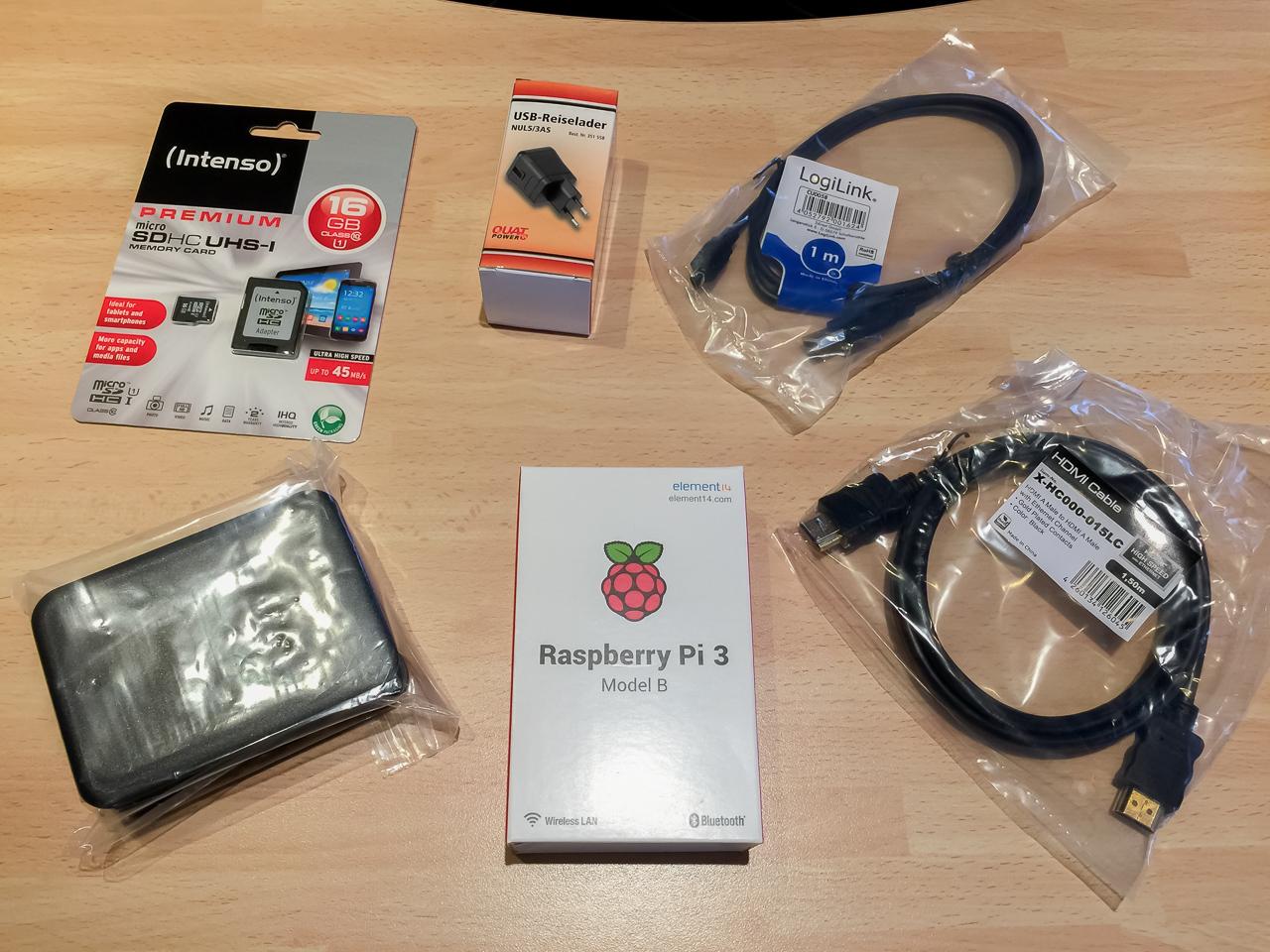 RaspBerry Pi 3 mit Zubehör