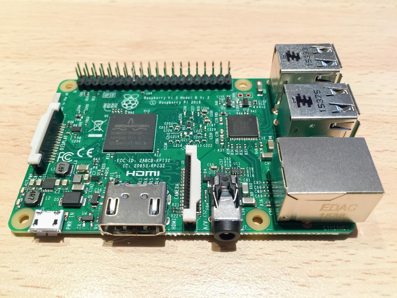 RaspBerry Pi 3 live von oben
